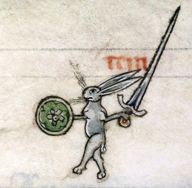 Rabbit with sword
