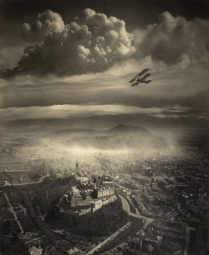 Alfred G. Buckham Aerial View over Edinburgh c. 1920
