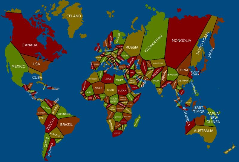 Borders nearest capital