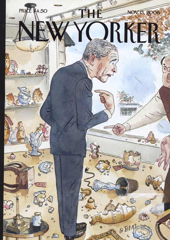 The New Yorker cover: Bush clueless